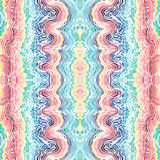 Colorful seamless waves hand-drawn pattern Royalty Free Stock Photo