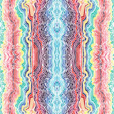 Colorful seamless waves hand-drawn pattern Stock Images