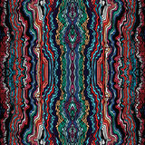 Colorful seamless waves hand-drawn pattern Royalty Free Stock Photos