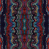 Colorful seamless waves hand-drawn pattern Royalty Free Stock Image