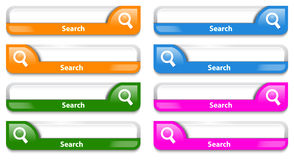 Colorful search bar design Stock Images