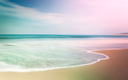 Colorful Seascape. A multi-colored, motion-blurred seascape with opposing light and dark vignettes stock images