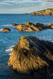Colorful seascape with rocky coastline Royalty Free Stock Photos
