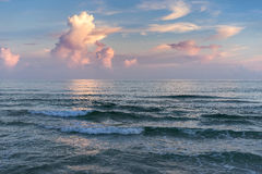 Colorful Seascape at Sunset Stock Image