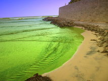 Colorful seaside. Colorful seaside, kanyakumari, south tip of south India royalty free stock image