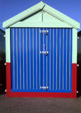 Colorful seaside hut Stock Image