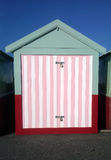 Colorful seaside hut or shed Stock Images