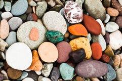 Colorful seaside pebbles on the beach, Batumi, Georgia. Colorful seaside rounded pebbles on the beach, Batumi, Georgia Stock Photos