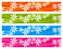 Colorful season floral banners Royalty Free Stock Images