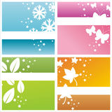 Colorful seasonal backgrounds Stock Image