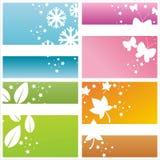 Colorful seasonal backgrounds Stock Image