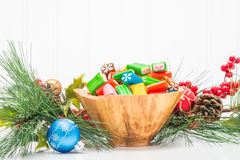 Colorful Seasonal Candy Bowl Royalty Free Stock Photography