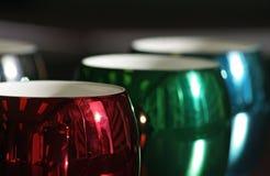 Colorful and seasonal coffee mugs Stock Photography