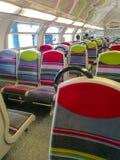 Colorful Seats of Modern Paris France Public Metro royalty free stock photo