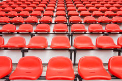 Colorful seats in stadium Royalty Free Stock Photography