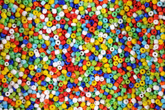 Colorful seed beads background Stock Images