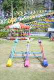 Colorful seesaw in the  park Stock Photos
