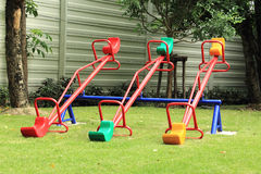 Colorful seesaw Stock Image
