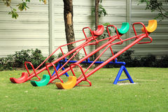 Colorful seesaw Stock Photography