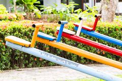 Colorful seesaw Royalty Free Stock Images