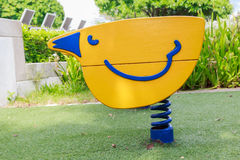 Colorful seesaws Stock Photo