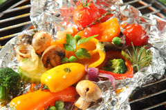 Colorful selection of fresh roasted vegetables Stock Images