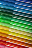Colorful selection of pens Royalty Free Stock Photography