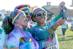 Colorful selfie Stock Image