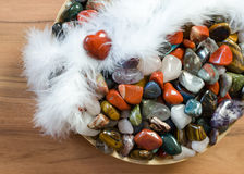 Colorful semi precious  stones Royalty Free Stock Images