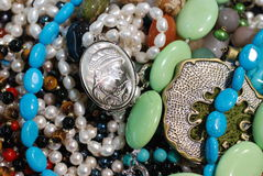 Colorful semiprecious jewels. Closeup of colorful semiprecious jewels Stock Photography