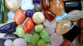 Colorful semiprecious stones closeup stock photography