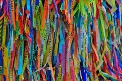Senhor do Bonfim ribbons, Salvador, Bahia, Brazil. Colorful Senhor do Bonfim ribbons royalty free stock photography