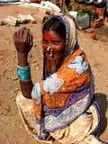 Colorful Senior. An Indian senior in colorful sari Stock Image