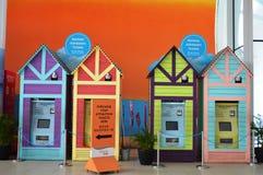 Colorful Sentosa Ticket Machine Huts Stock Photo
