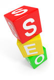 Colorful SEO cubes. Royalty Free Stock Photo