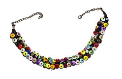 Colorful sequin necklace Royalty Free Stock Photography