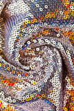 Colorful sequined texture Stock Image