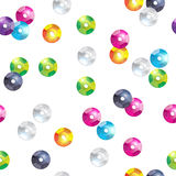 Colorful sequins seamless pattern. Stock Photography