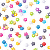 Colorful sequins seamless pattern. Stock Photos