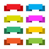 Colorful set of 8 banners, abstract vector illustr Stock Photography