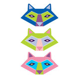 Colorful set of animals vector Royalty Free Stock Image