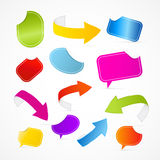 Colorful Set of Arrows, Labels, Tags, Stickers Royalty Free Stock Image