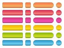 colorful set of blank buttons Stock Photography