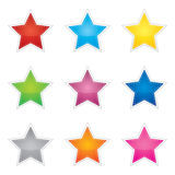 Colorful set of blank stickers Stock Photo