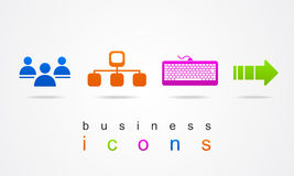 Colorful set of business icons logo internet Royalty Free Stock Images