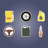 Colorful set with cars icons Royalty Free Stock Image