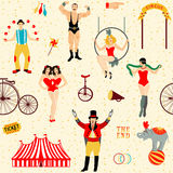 Colorful set with circus star Royalty Free Stock Photos
