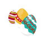Colorful set collection easter eggs icon design Royalty Free Stock Image