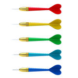 Colorful set of darts Royalty Free Stock Photos