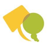 colorful set dialog speech bubbles icon Stock Photo